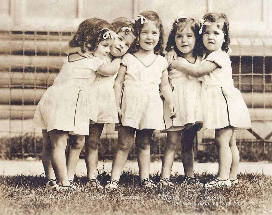 The Dionne Quintuplets 1937