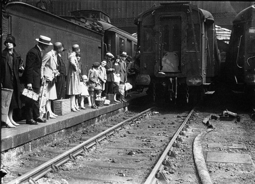 Train Station Paris 1929