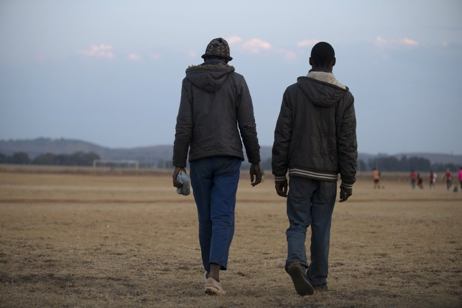 Two Men Walking