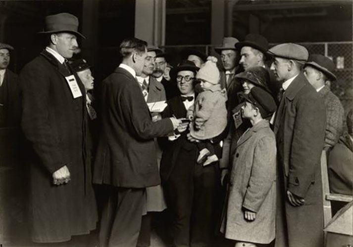 A Social Worker At Ellis Island