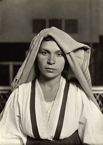 An Albanian Woman From Italy At Ellis Island