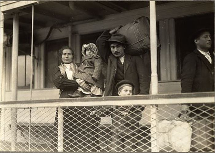 Italian Family En Route To Ellis Island