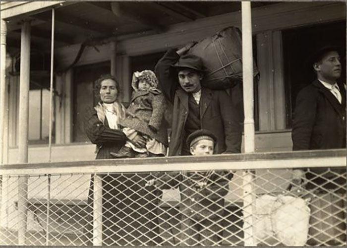 Italian Family En Route To Ellis Island