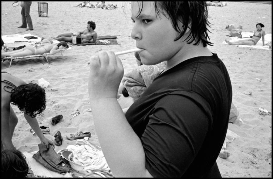 Vintage Photograph From Rockaway Beach In Brooklyn