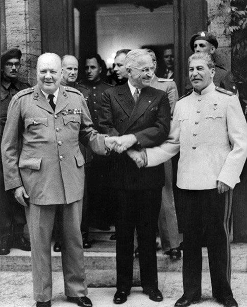 Allies Shake Hands
