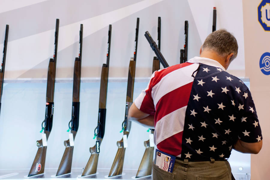 American Flag Shirt Guns