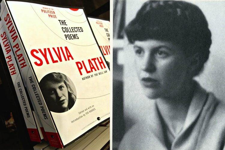Sylvia Plath Books Portrait