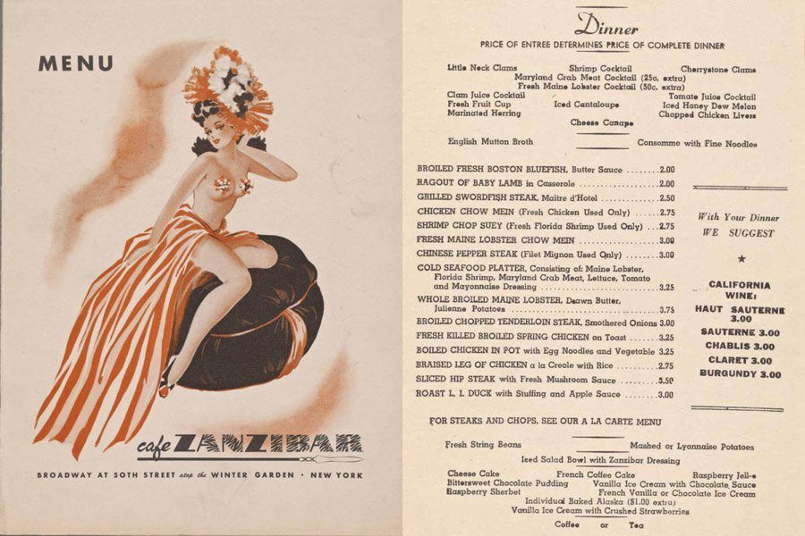 Vintage Menus: Some Gorgeous, Some Offensive, All Surprising