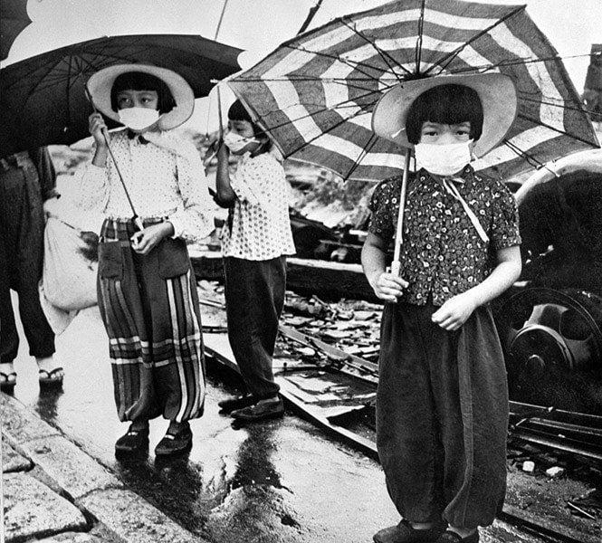 Children Umbrellas Raidation