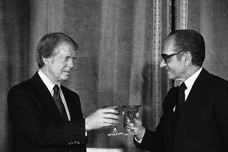 President Jimmy Carter and Shah Reza Pahlavi