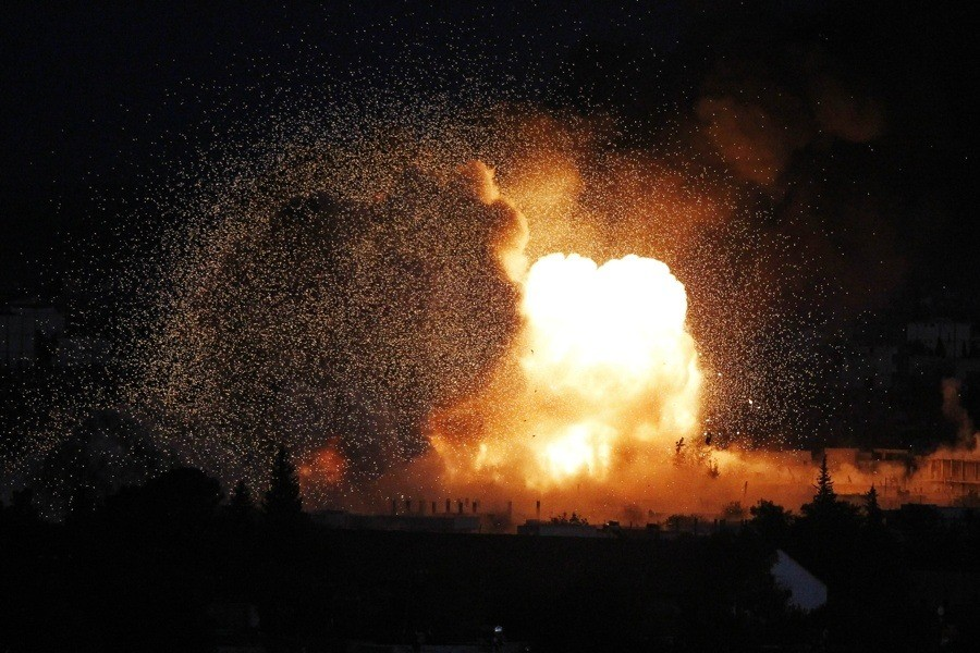 Explosion At Night