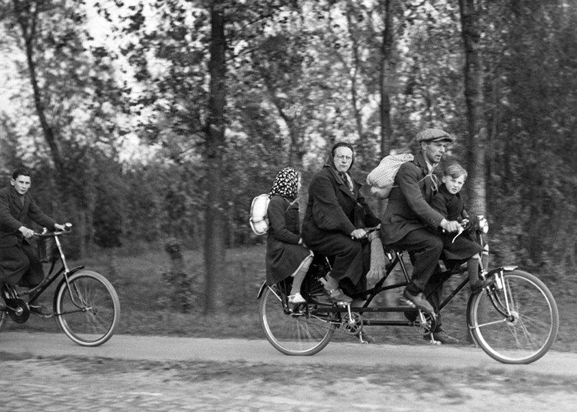 Fleeing On Bikes