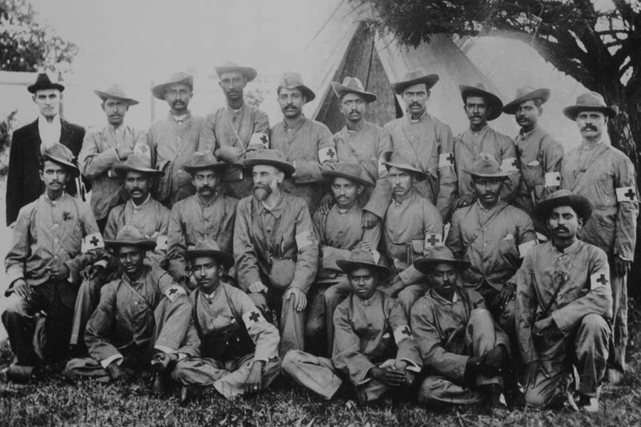 Gandhi In A Group Photo