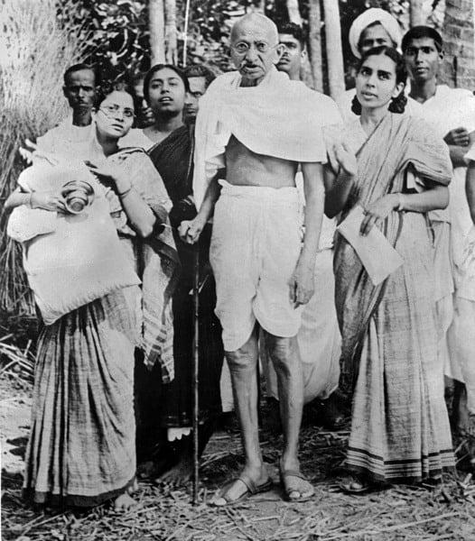 Gandhi With Ladies