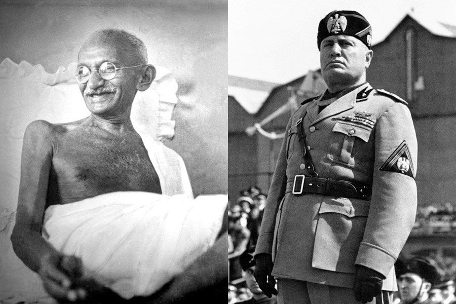 Gandhi Mussolini