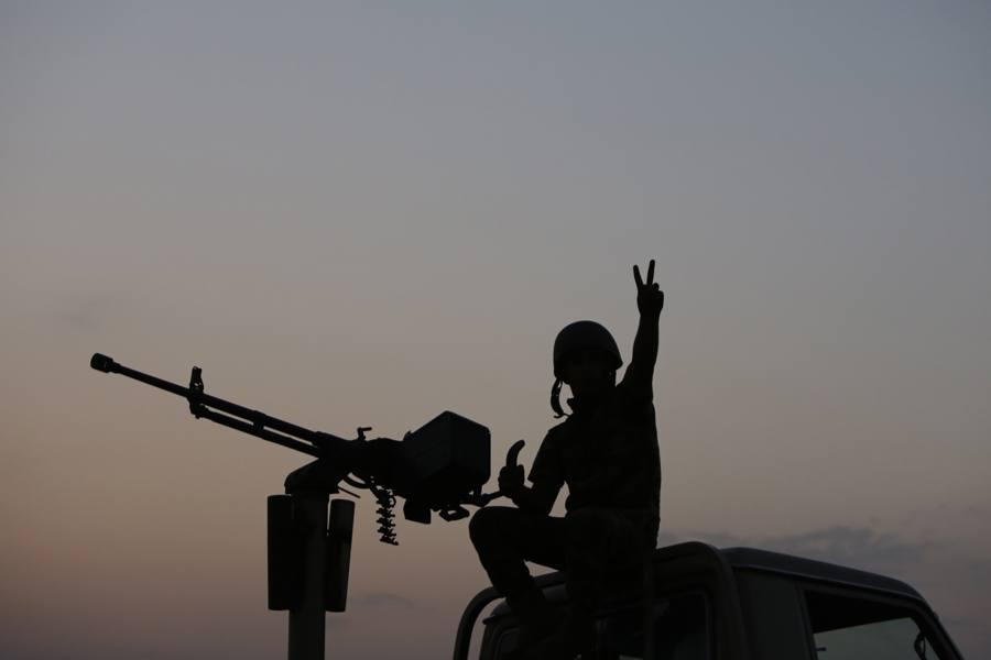 Gun Peace Sign Silhouette