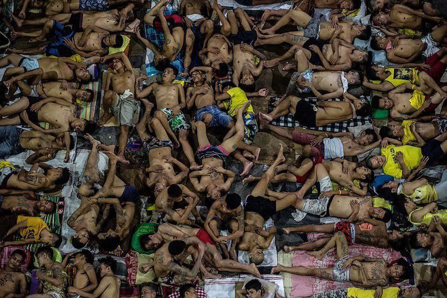 Inmates Sleeping