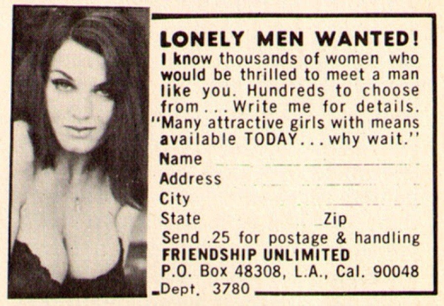 Lonely Men Wanted