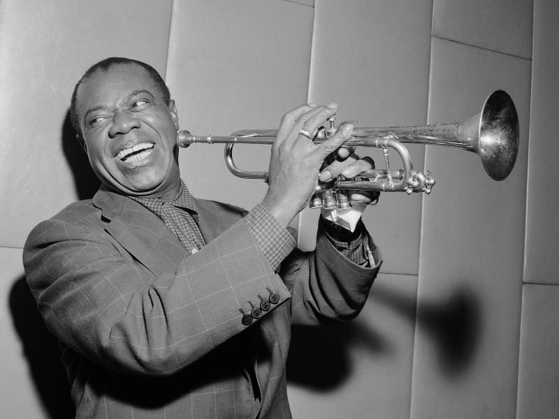 Jazz Age Louis Armstrong With Trumpet