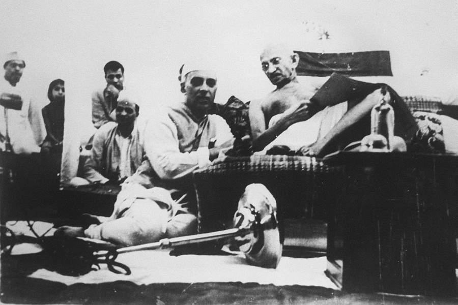 Gandhi Lying Down