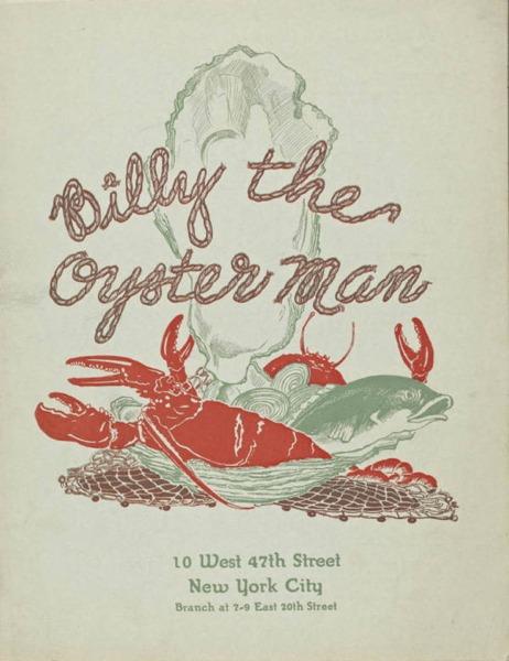 Menu Billy Oyster Man