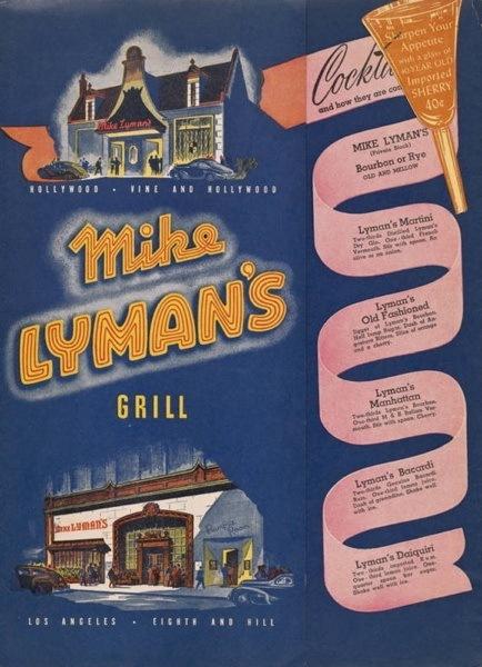 Menu Mike Lymans