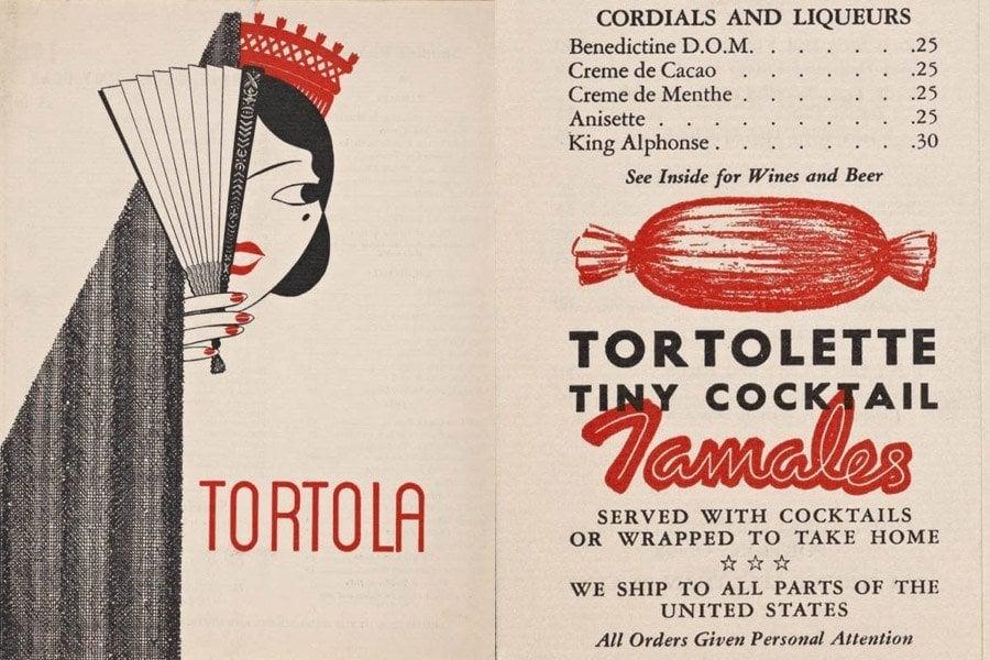 Menu Tortola