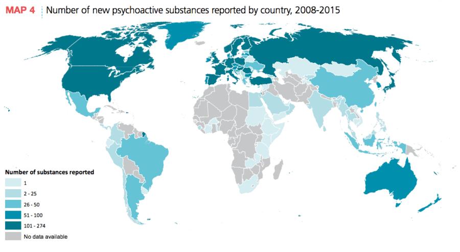 New Psychoactive Substances Map