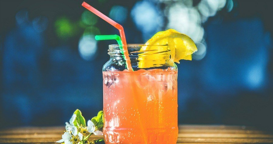 Pink Lemonade In A Mason Jar