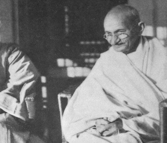 Gandhi Wearing Glasses