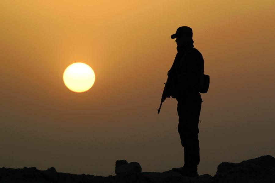 Soldier Silhouette Sun