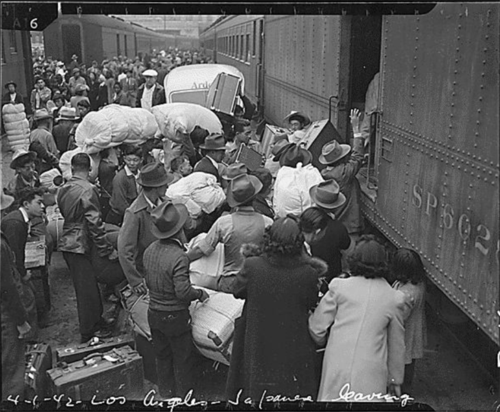 Train Los Angeles Internment