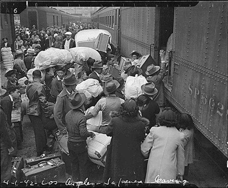 Train Los Angeles Internment