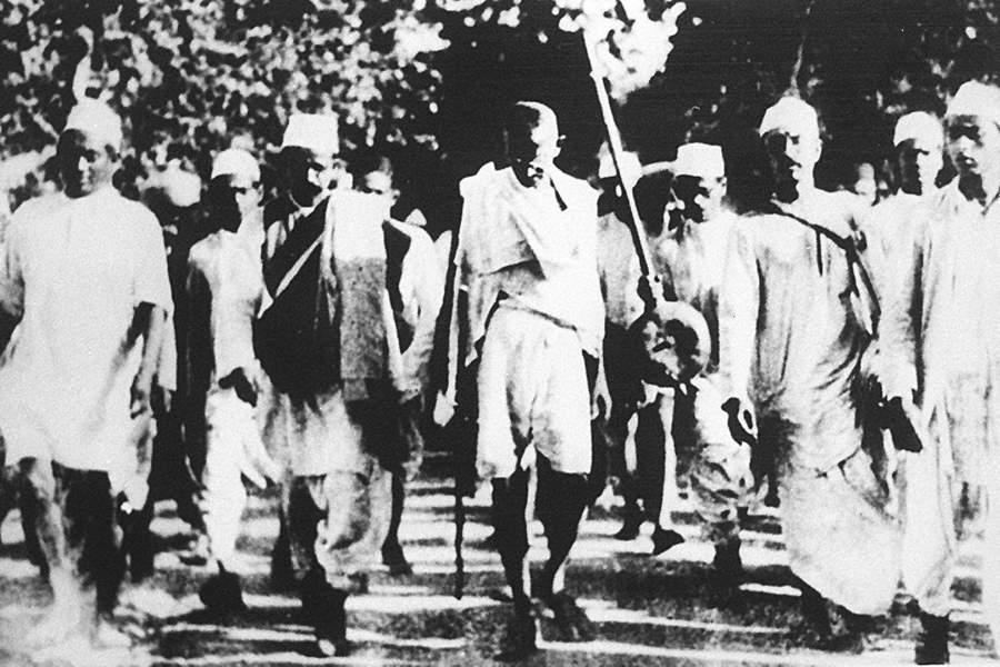 Gandhi Walking