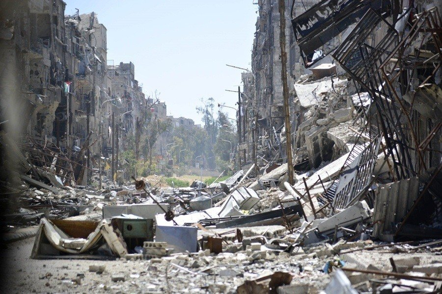War Against Isis Destroyed Town