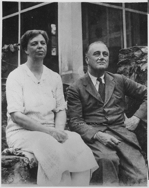 FDR And Eleanor Roosevelt In 1929