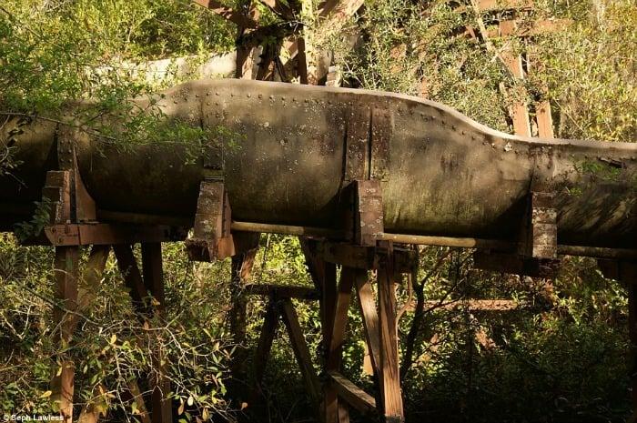 Abandoned Log Flume Ride