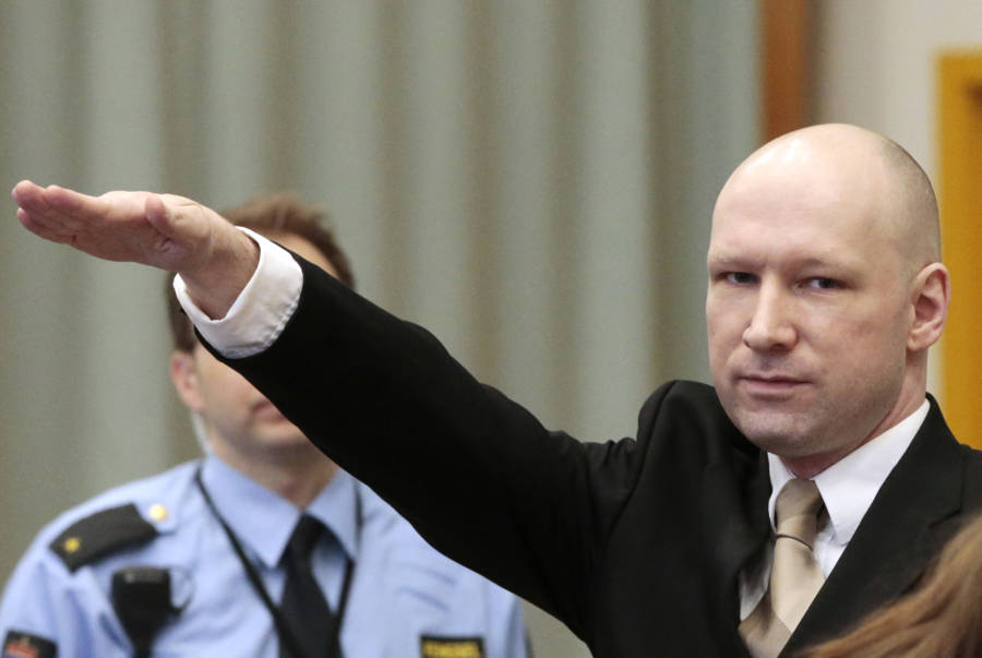 Anders Behring Breivik Salute