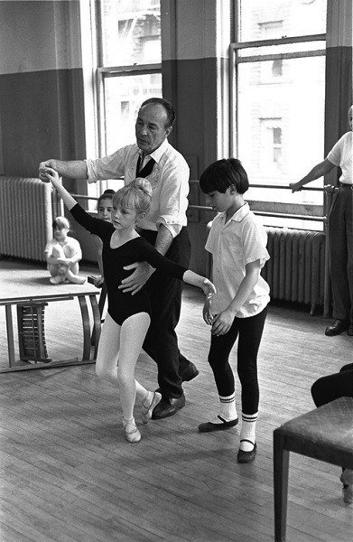 Balanchine Rehearses Children
