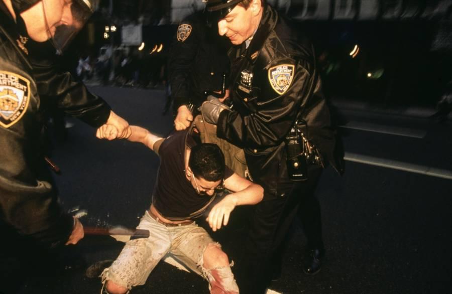 Cops Grabbing Man