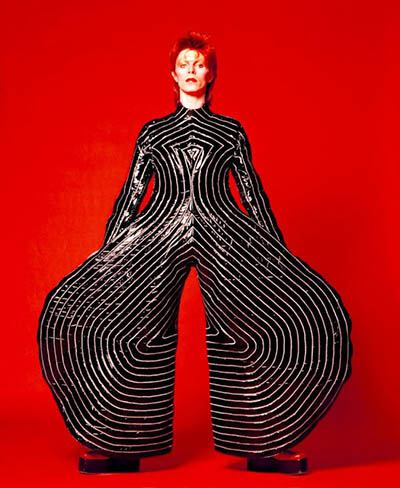 David Bowie Iconic Costumes Red