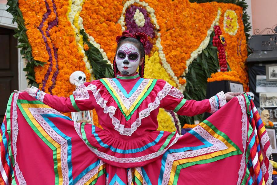El Dia Muertos Dress Pretty Colors