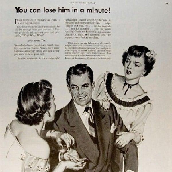 Fear Driven Vintage Sexist Advertisement