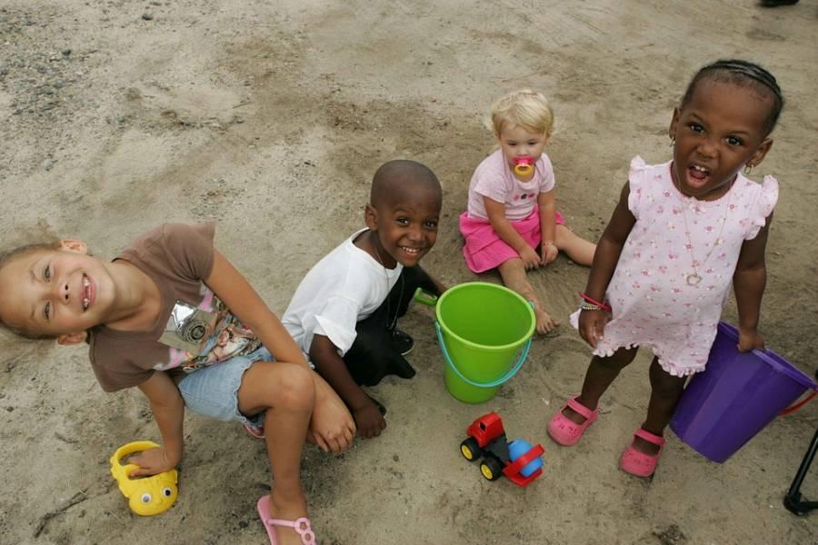 Four Kids In Sandbox