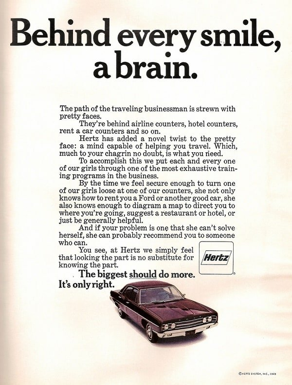 Hertz Ad Behind Every Smile