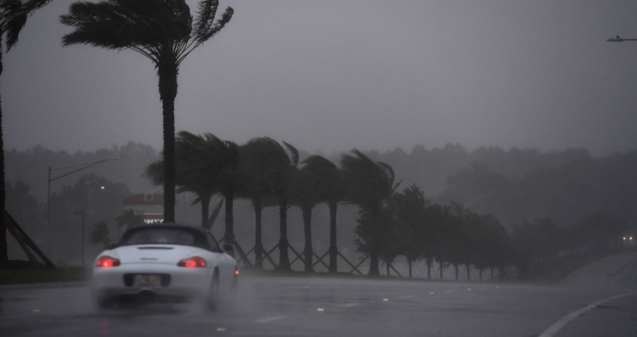 Hurricane Matthew Beach Porsche