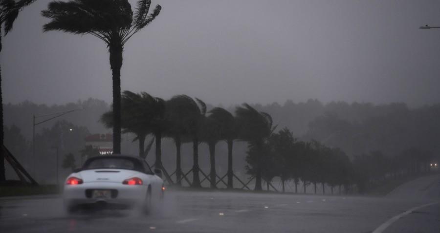 Hurricane Matthew Beach Porsche