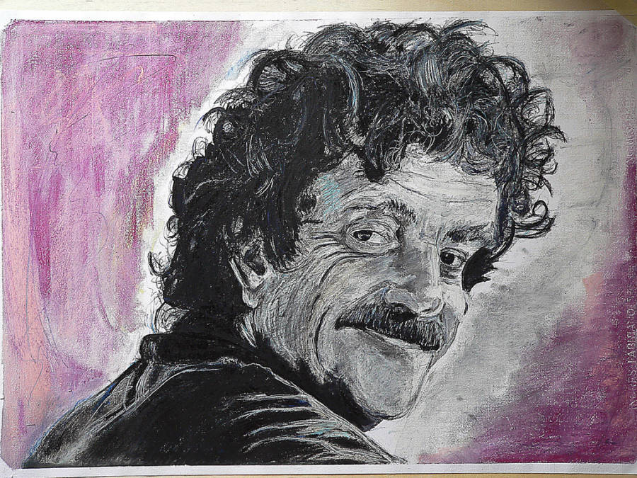 Kurt Vonnegut Facts Painting