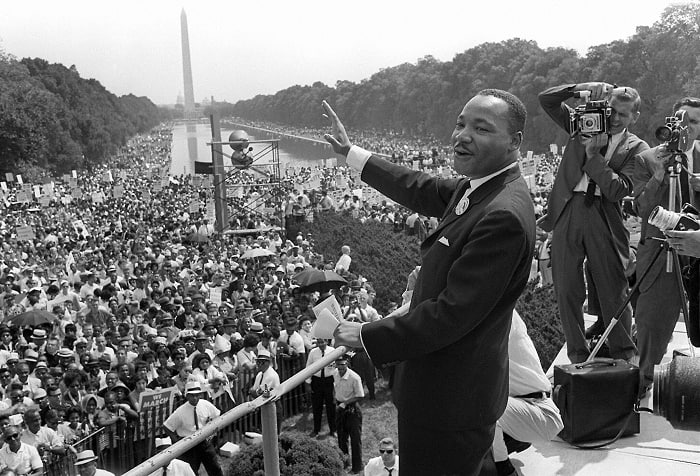Martin Luther King In Washington Min