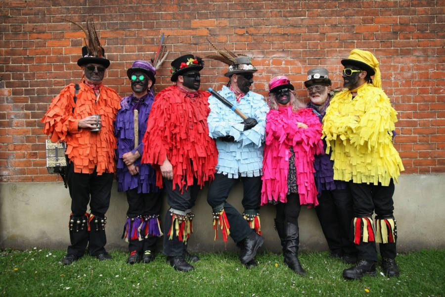 Morris Dancing Colorful